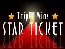 Игра на реальные деньги Triple Wins Star Ticket